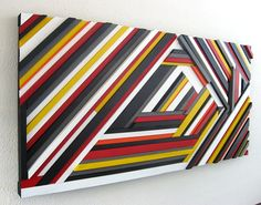 SALE Geometric Wall Art - Wood Sculpture on Etsy, Sold
