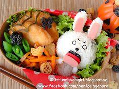 Little Miss Bento シャリーのかわいいキャラベン: Halloween LINE Bento ハロウィンのキャラベン・LINEキャラベン