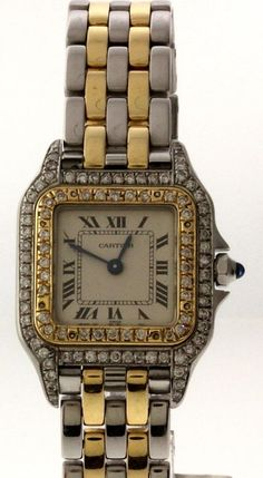 CARTIER Panther Swiss Watch in Steel and 18k Gold