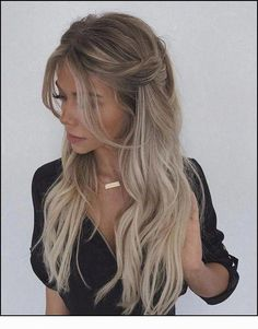 Prom Hairstyles Half Up Half Down Looking for Hair Prom Inspo? Get prepared for prom season by checking out some of our favorite half up half down prom hairstyles for all hair lengths & textures Princess Hairstyles, Fancy Hairstyles, Straight Hairstyles, Wedding Hairstyles, Hairstyle Ideas, Female Hairstyles, Updo Hairstyle, Easy Down Hairstyles, Half Up Half Down Hairstyles