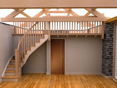 Barn conversion interior model of library stairs Barn House Conversion, Barn Conversion Interiors, Chapel Conversion, Barn Conversions, Log Home Plans, Barn Plans, House Plans, Metal Building Homes, Building A House
