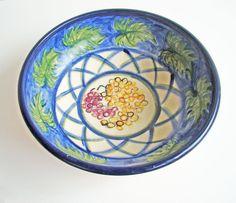 Bohemian Hand Painted Terracotta Bowl