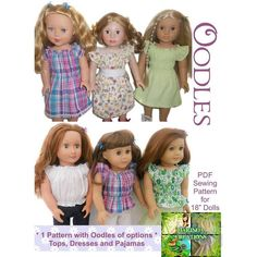 Oodles of Options ... by Marinda Creations | Sewing Pattern - Looking for a sewing pattern for your next project? Look no further than Oodles of Options for AG / 18'' Dolls from Marinda Creations! - via @Craftsy