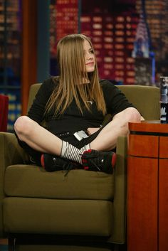 And when she sat cross-legged during an interview on The Tonight Show with Jay…