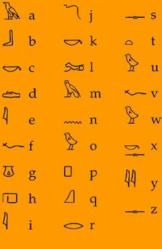 a site that talks about ancient egyptian lifestyles. I used this site for Ancient education. There are other pages dealing with art, clothing, food, etc. Alphabet Code, Alphabet Symbols, Sign Language Alphabet, Egyptian Symbols, Ancient Symbols, Ancient History, Egyptian Hieroglyphs, Mayan Symbols, Viking Symbols