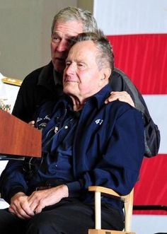 43 with 41 on is 88th birthday, July 16, 2012 Both men are  what Presidents should be made of.