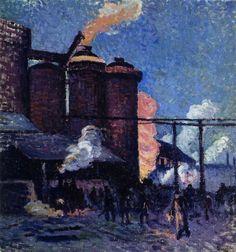 Maximilien Luce:  Factories in Charleroi (c.1903) The Athenaeum