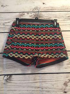 H&M Hm Coachella Multi Color Mini Tribal Festival Short Sz 4 EU 34  | eBay