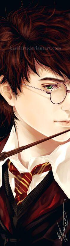 HP Bookmark - Harry Potter by KaseiArt.deviantart.com