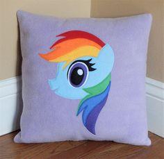 Rainbow Dash Pillow by My3SillyMonkeys on Etsy