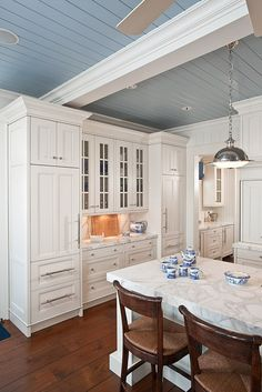 """Ceiling Paint Color: """"Cowgirl Blue #VM137 by Ralph Lauren Paint"""" (Reduced by 50%)."""