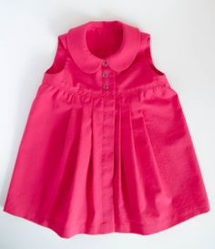 Sara's sweet Raspberry Baby Dress using a Burdastyle pattern #sewing #baby #burdastyle