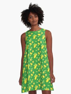 Summer themed green pattern of ripened yellow lemons • Also buy this artwork on apparel, phone cases, home decor, and more.