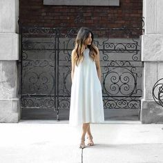 Classic white dress. #MyAritzia | Aritzia
