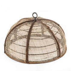 Bamboo and Jute Plate Cover | VivaTerra $25