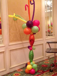 Bright, Colorful and Wild balloon column
