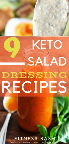 The simple homemade keto salad dressing recipes which are delicious. These low c… The simple homemade keto salad dressing recipes which are delicious. These low carb keto salad dressing are perfect to be in ketosis. Ketogenic Recipes, Diet Recipes, Healthy Recipes, Healthy Foods, Low Calorie Salad, Keto Sauces, Salad Dressing Recipes, Salad Dressings, Sugar Free Salad Dressing