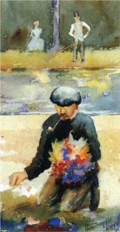Picking Flowers - Maurice Prendergast, 1891