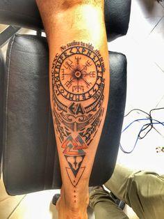 Helm of awe and vegvisir Nordic rune tattoos | Tattoo ...