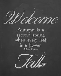 """Thoughts from Alice: """"Welcome Fall"""" Chalkboard Printable!"""