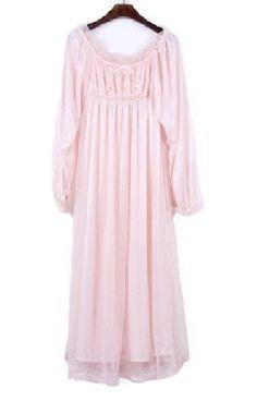 Amazon.co.jp: [YR] 贅沢な総レース プリンセス風 ロングネグリジェ 119cm ルームウェア ヘアゴムセット B088: 服&ファッション小物