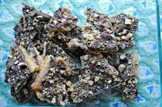 Saltine toffee brittle from Rachel Ray Saltine Toffee, Toffee Candy, Saltine Crackers, Peanut Butter Chips, Special Recipes, Stick Of Butter, Clean Eating Snacks, Sweet Recipes, Delicious Desserts