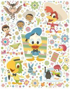 Three Caballeros, Duck Tales, Worlds Of Fun, Cute Wallpapers, Disney Pixar, Donald Duck, Daisy, Kids Rugs, Artist