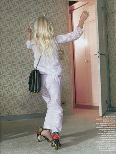 Marie Claire octobre 2014 Pyjama rayé en coton #laurencetavernier