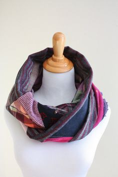 Infinity scarf Reversible Cowl Circle Scarf by SaidoniaEco on Etsy