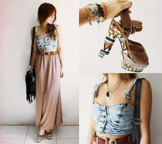 Denim Twist  (by Cheyser Pedregosa) http://lookbook.nu/look/3722697-Denim-Twist - love the denim top