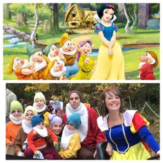 Snow White and the seven dwarfs family Halloween costume idea!⛏