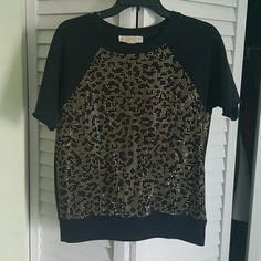 Michael kors studded Navy top. Great condition Ornament 100% Metal  60% Cotton 40% polyester 4% Elastic Michael Kors Tops
