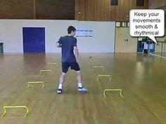 ▶ Tennis Footwork Training Drill - Backwards Slalom - YouTube