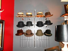 The every growing hat collection.. boaters, derbies, homburgs, fedoras and more!  www.RichardsFabulousFinds.com