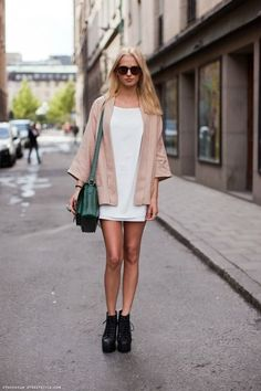 blush and white