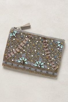 Anthropologie Myra Embellished Pouch #anthrofave