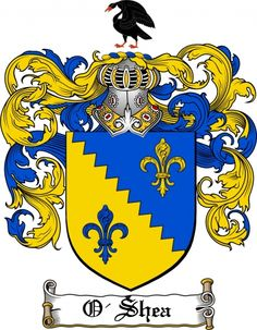 O'shea Coat of Arms O'shea Family Crest Instant Download - for ...