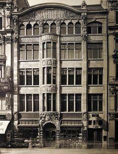 Das Sarottihaus stand in der Leipziger Straße 129. Berlin, 1909. o.p.