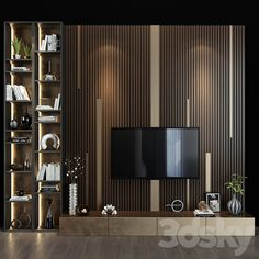 3d models: TV Wall - TV shelf 0127 Tv Shelf Design, Lcd Wall Design, Tv Feature Wall, Feature Wall Living Room, Tv Wall Decor, Wall Tv, Shelf Wall, Room Decor, Living Tv
