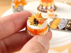 Miniature Halloween Food - Please keep in mind this is handmade and will show tiny baby differences:) Handcrafted in France. One of a