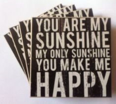 Shabby chic vintage wooden #slogan  #drinks 4 x #coasters you are my sunshine gif,  View more on the LINK: 	http://www.zeppy.io/product/gb/2/291580881712/