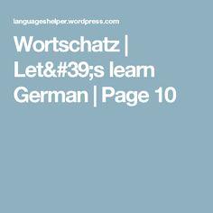 Wortschatz   Let's learn German   Page 10