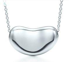 Tiffany Elsa Peretti Bean necklace