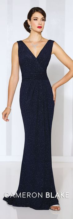 Cameron Blake Spring 2016 - Style No. 116658 #formaleveningdresses  Sophia Necklace and Sophia Earrings www.davidtuteraembellish.com