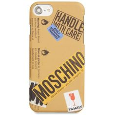 Women's Moschino Package Iphone 6/6S & 7 Case ($70) ❤ liked on Polyvore featuring accessories, tech accessories, brown multi and moschino
