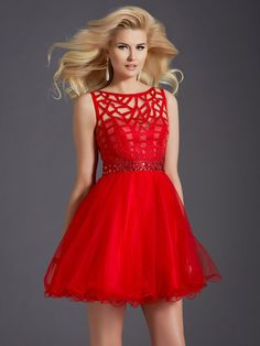 CLARISSE 2654 RED HOMECOMING DRESS