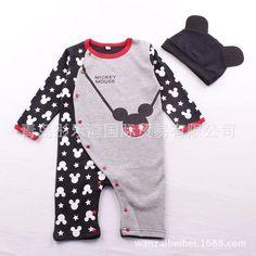5d6f2e548 HAZ CLICK EN LA IMAGEN - Retail bebé recién nacido Bebé Ropa mamelucos  lindos 1 piezas bebé Unisex mameluco infantil niños niñas manga larga con  sombrero ...