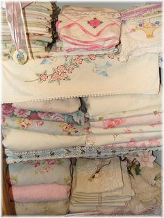 vintage linens, there are never enough