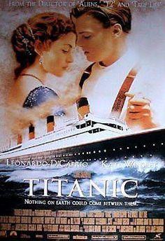 Titanic - Film Promo Art - Leonardo DiCaprio - Kate Winslet - Original 1998 - Movie Poster 23x35