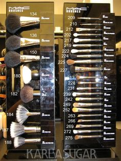 MAC brushes explained (with price lists too!)